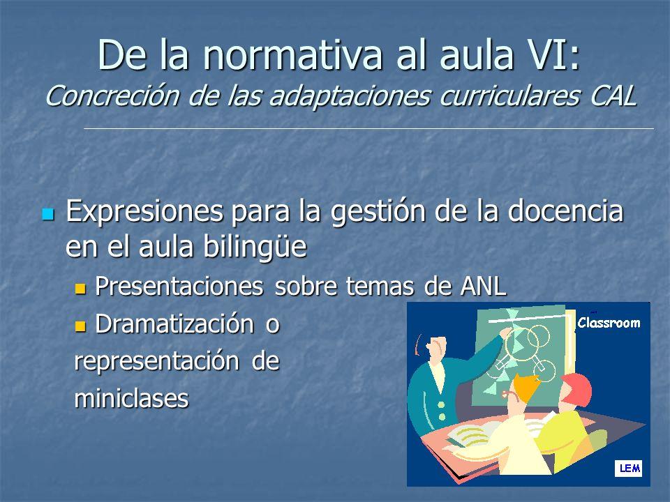 9 Expresiones para la gestión de la docencia en el aula bilingüe Expresiones para la gestión de la docencia en el aula bilingüe Presentaciones sobre t
