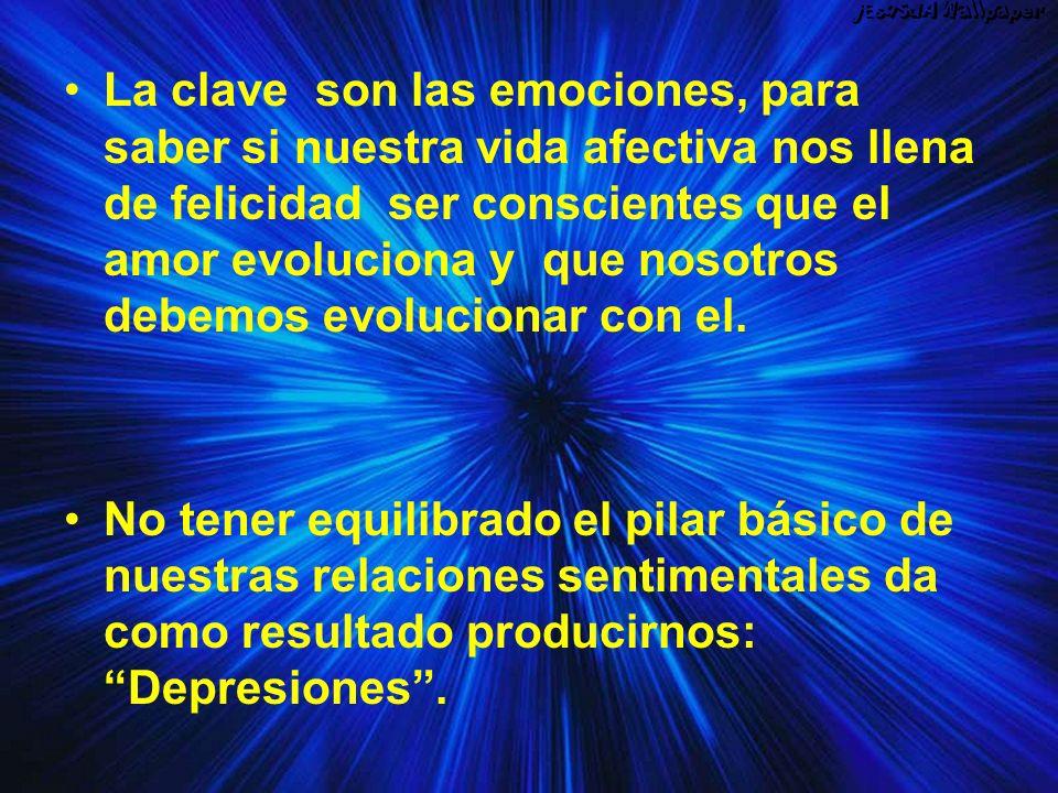 La clave son las emociones, para saber si nuestra vida afectiva nos llena de felicidad ser conscientes que el amor evoluciona y que nosotros debemos e