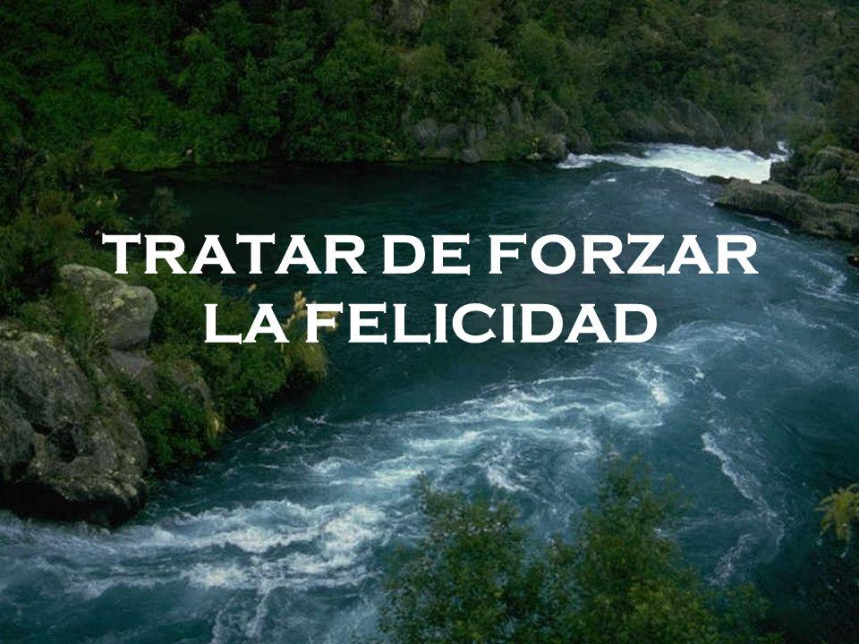 TRATAR DE FORZAR LA FELICIDAD