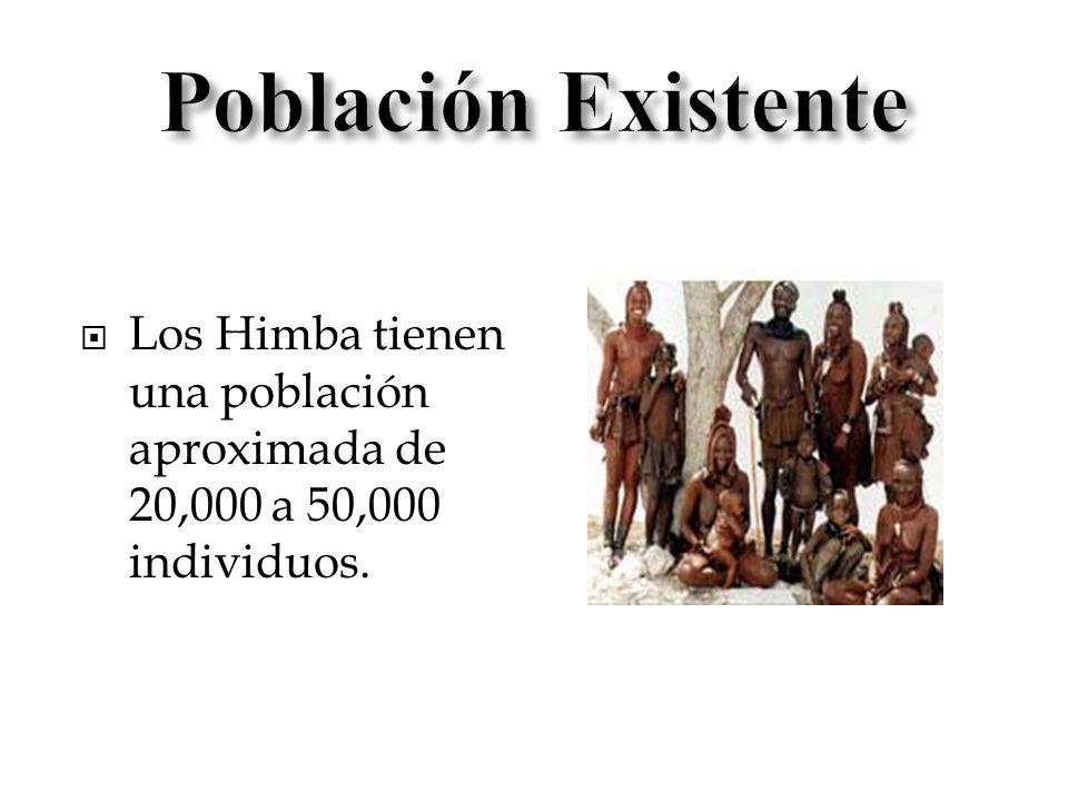 Los Himba tienen una población aproximada de 20,000 a 50,000 individuos.