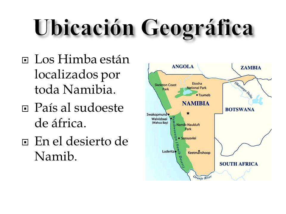 Los Himba están localizados por toda Namibia. País al sudoeste de áfrica. En el desierto de Namib.