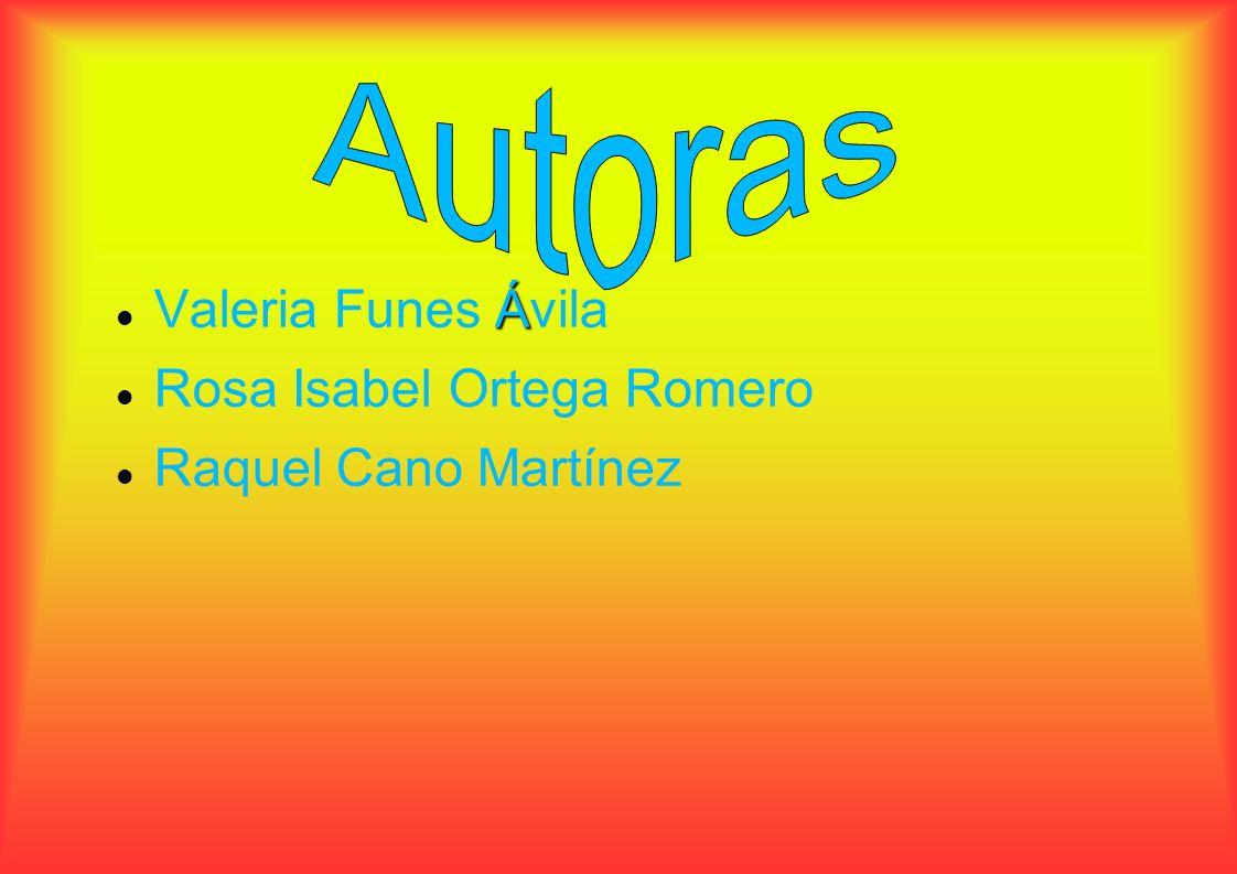 Valeria Funes Á ÁÁ Ávila Rosa Isabel Ortega Romero Raquel Cano Martínez