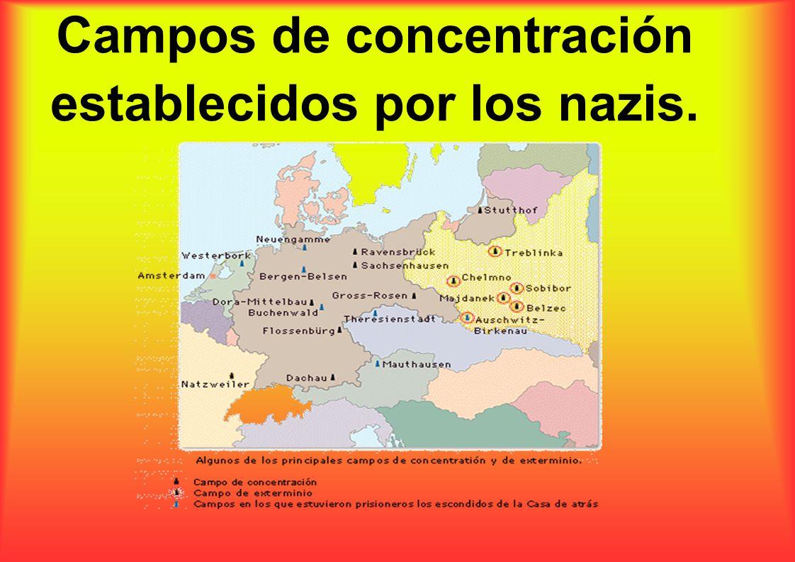 Campos de concentración establecidos por los nazis.