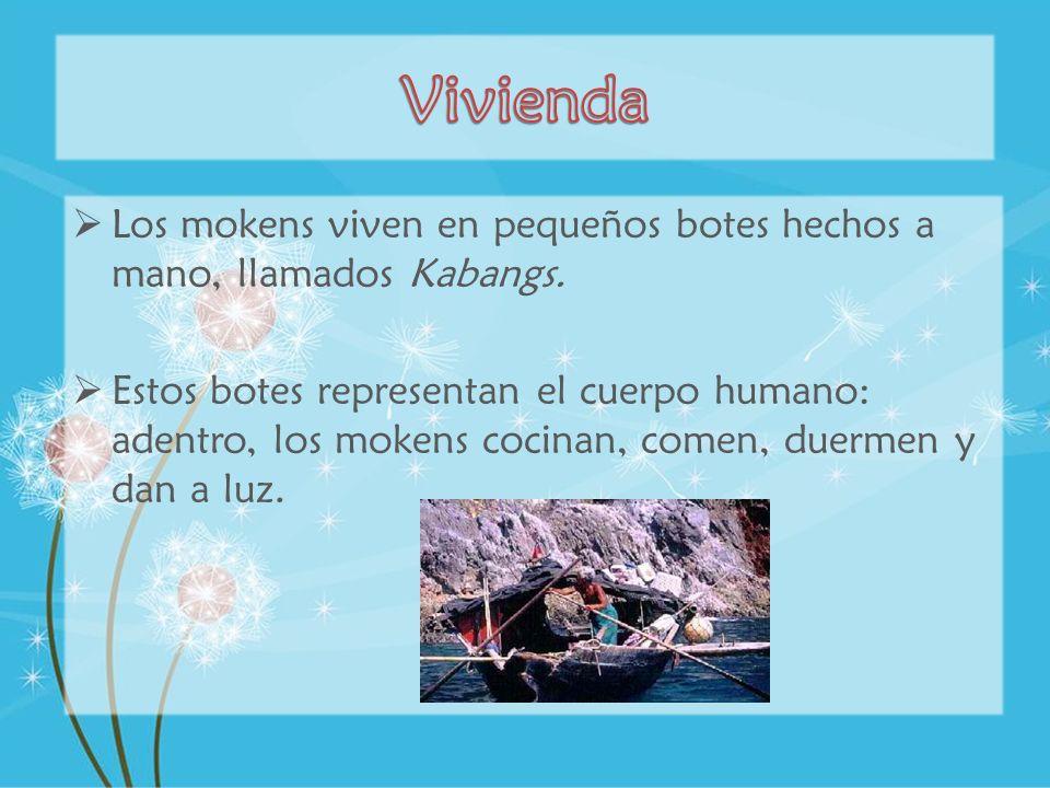 Los mokens viven en pequeños botes hechos a mano, llamados Kabangs. Estos botes representan el cuerpo humano: adentro, los mokens cocinan, comen, duer