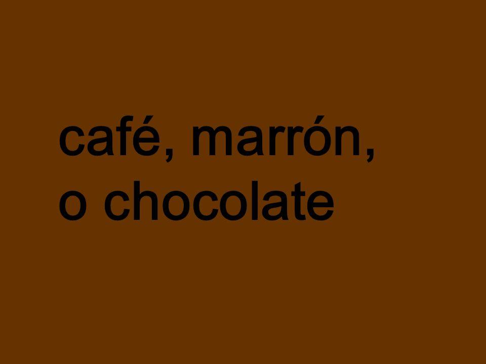 café, marrón, o chocolate