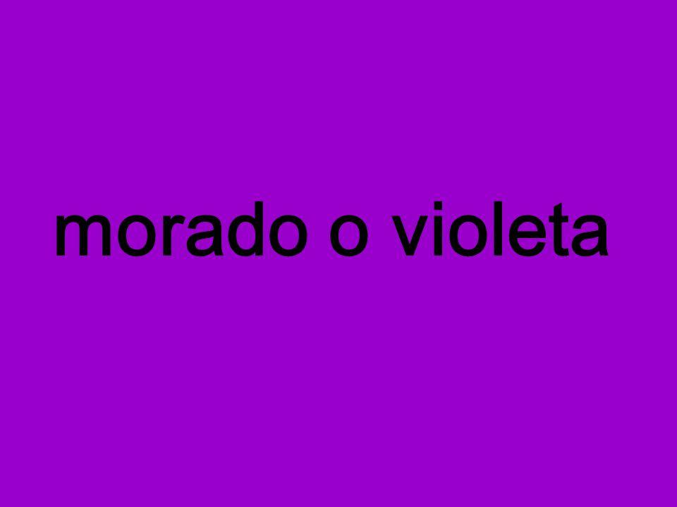 morado o violeta