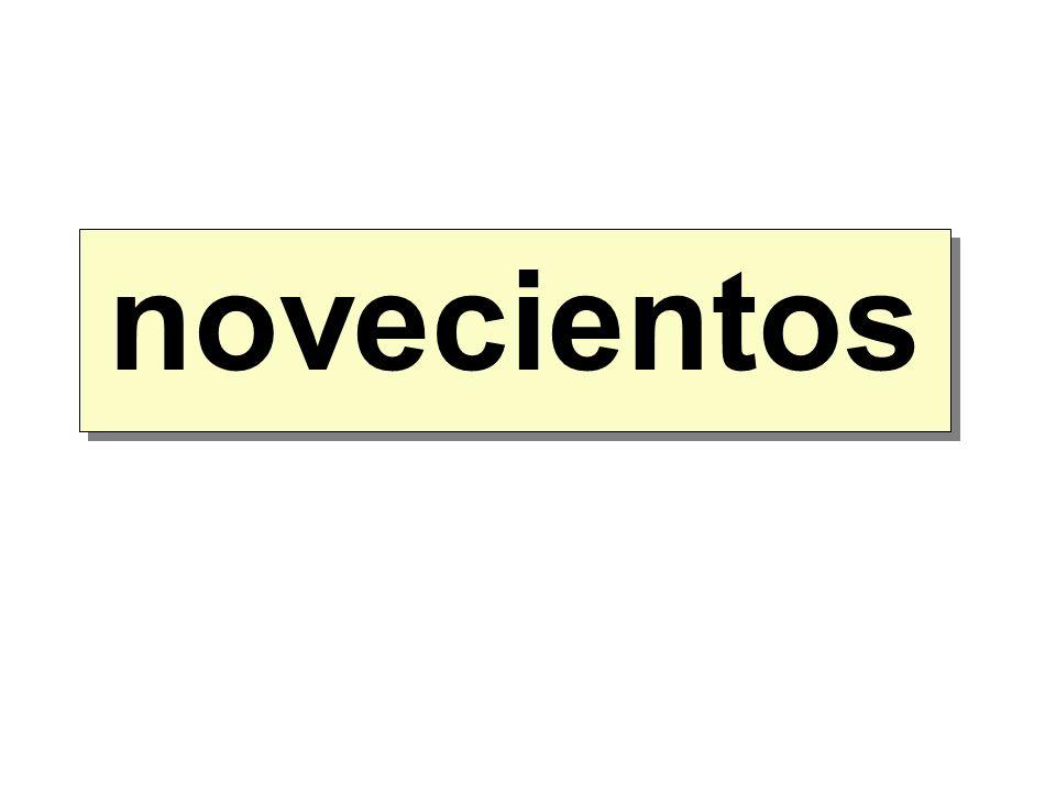 novecientos