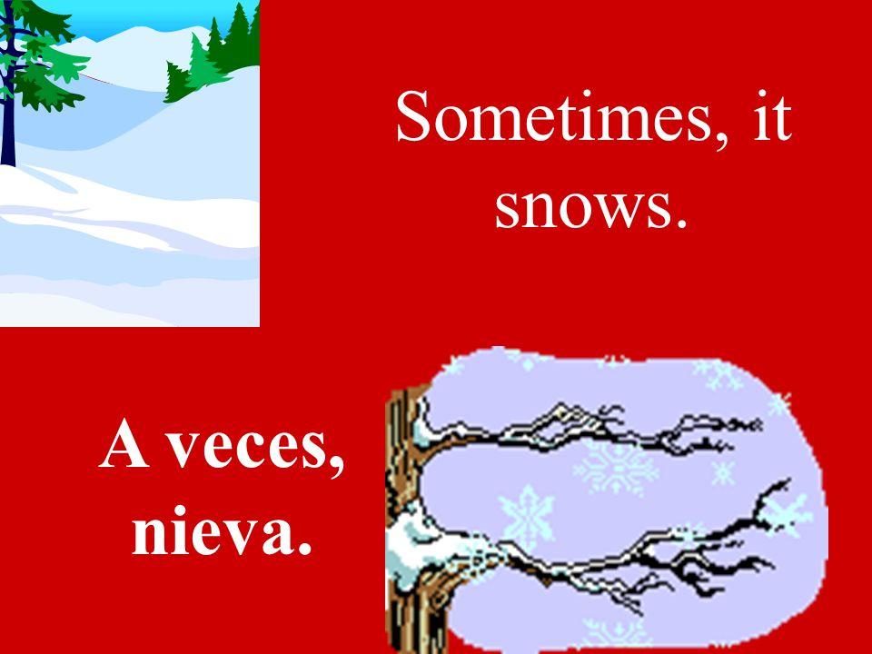 In winter its cold. En el invierno hace frío.
