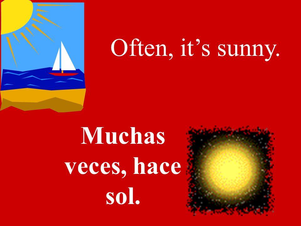 In summer its hot. En el verano hace calor.