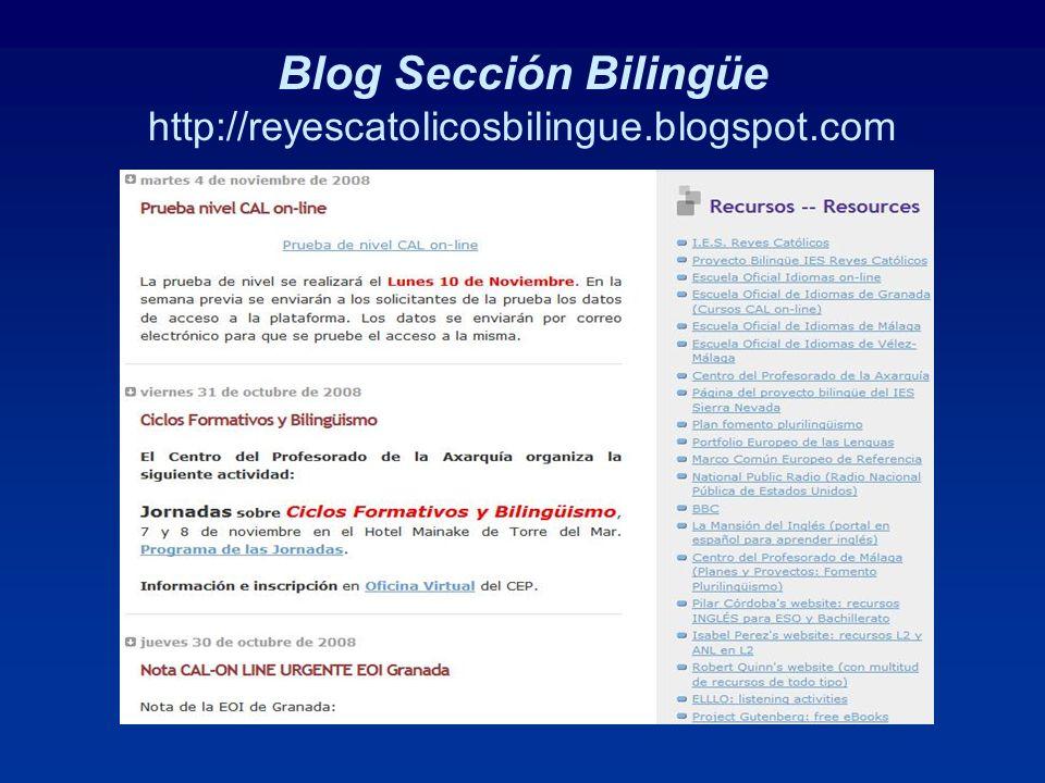 Blog Sección Bilingüe http://reyescatolicosbilingue.blogspot.com