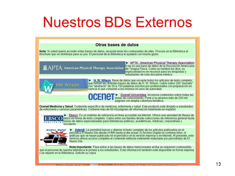 Nuestros BDs Externos 13