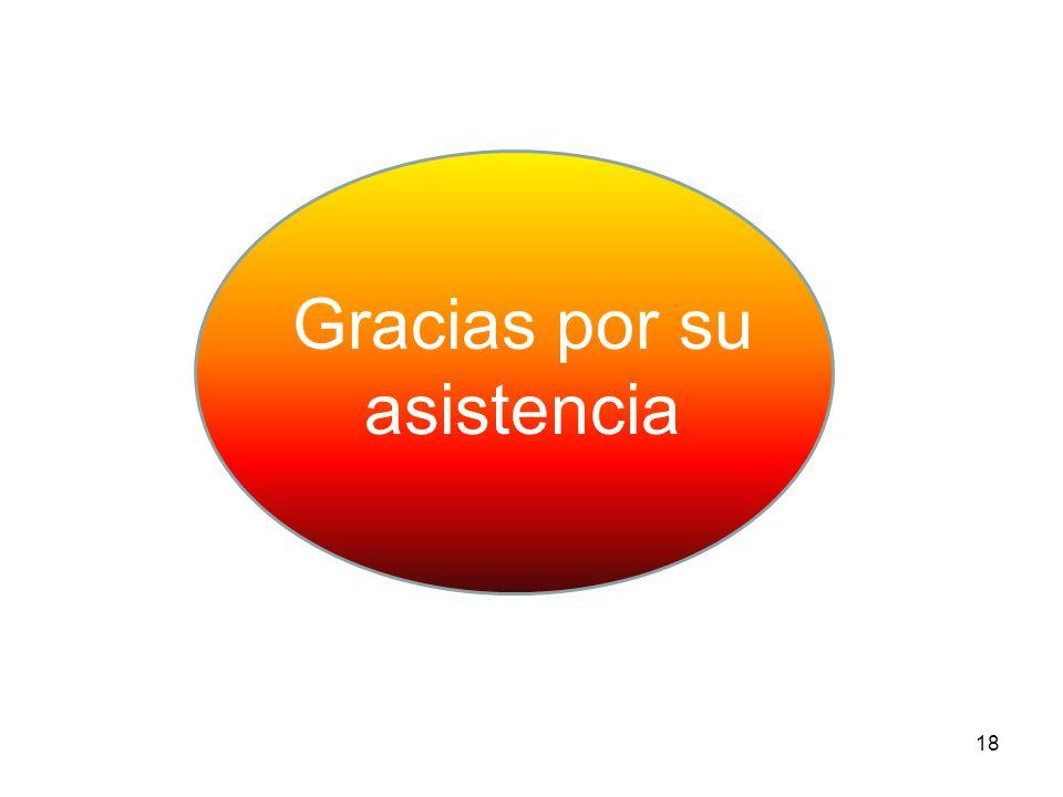 18 Gracias por su asistencia