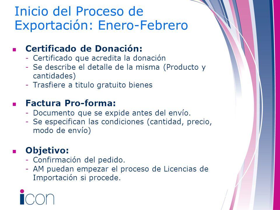Certificado de Donación: -Certificado que acredita la donación -Se describe el detalle de la misma (Producto y cantidades) -Trasfiere a titulo gratuit