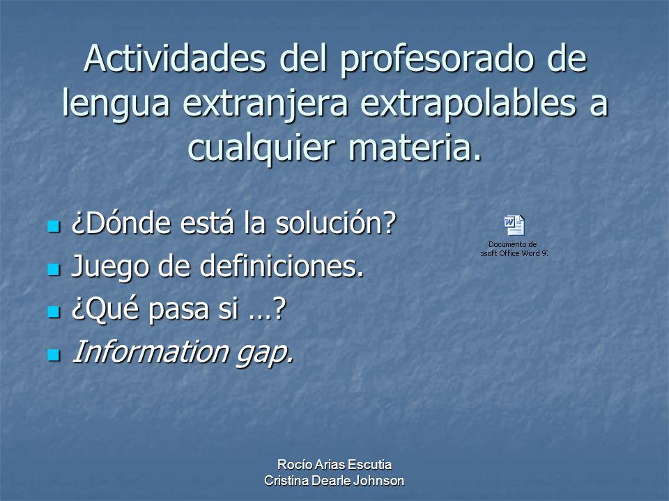 Actividades del profesorado de lengua extranjera extrapolables a cualquier materia.
