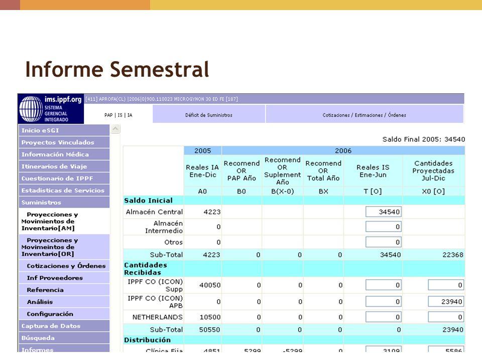 Informe Semestral