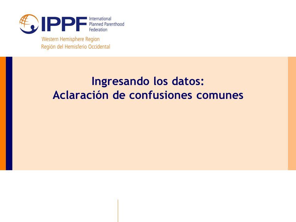 Ingresando los datos: Aclaración de confusiones comunes