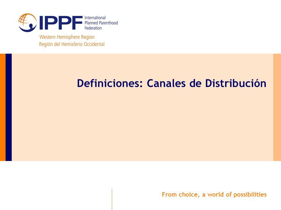 From choice, a world of possibilities Definiciones: Canales de Distribución