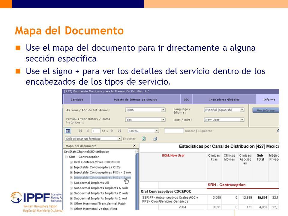 Matriz de Estadísticas de Servicios Propósito: Proporcionar una visión general de todos los datos de servicios reportados por la Asociación en períodos de 3-5 años.