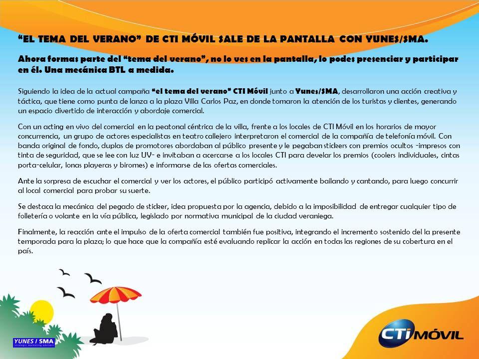 EL TEMA DEL VERANO DE CTI MÓVIL SALE DE LA PANTALLA CON YUNES/SMA. Ahora formas parte del tema del verano, no lo ves en la pantalla, lo podes presenci