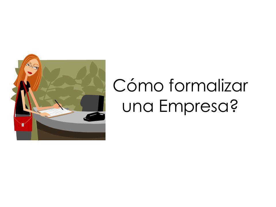 Cómo formalizar una Empresa?