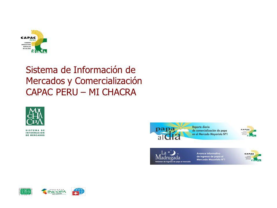 Sistema de Información de Mercados y Comercialización CAPAC PERU – MI CHACRA