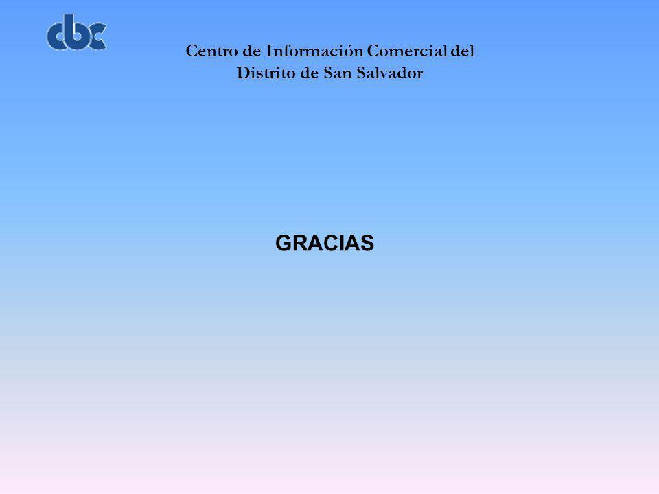 Centro de Información Comercial del Distrito de San Salvador GRACIAS