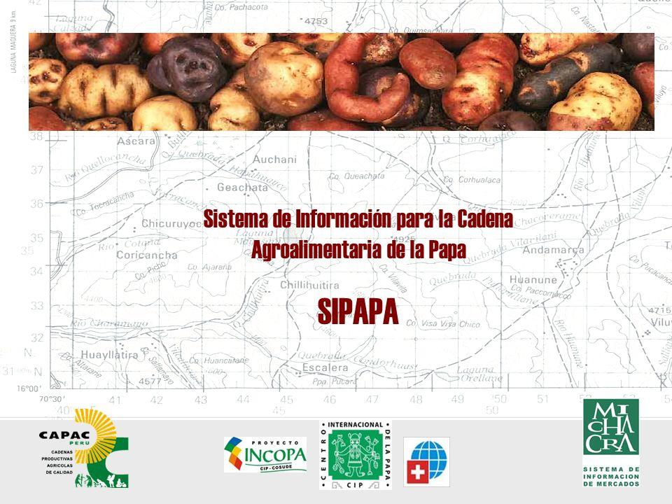 Sistema de Información para la Cadena Agroalimentaria de la Papa SIPAPA