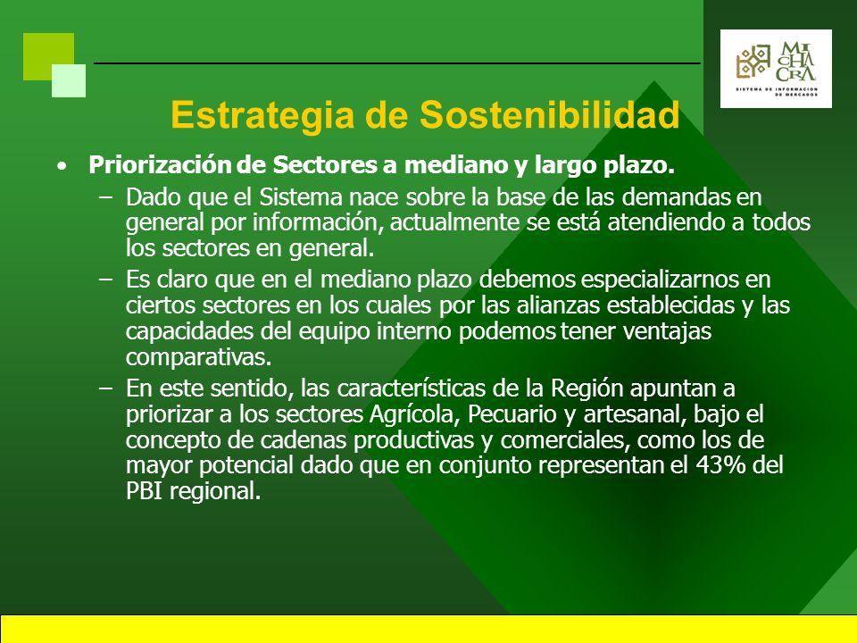 Estrategia de Sostenibilidad Priorización de Sectores a mediano y largo plazo.