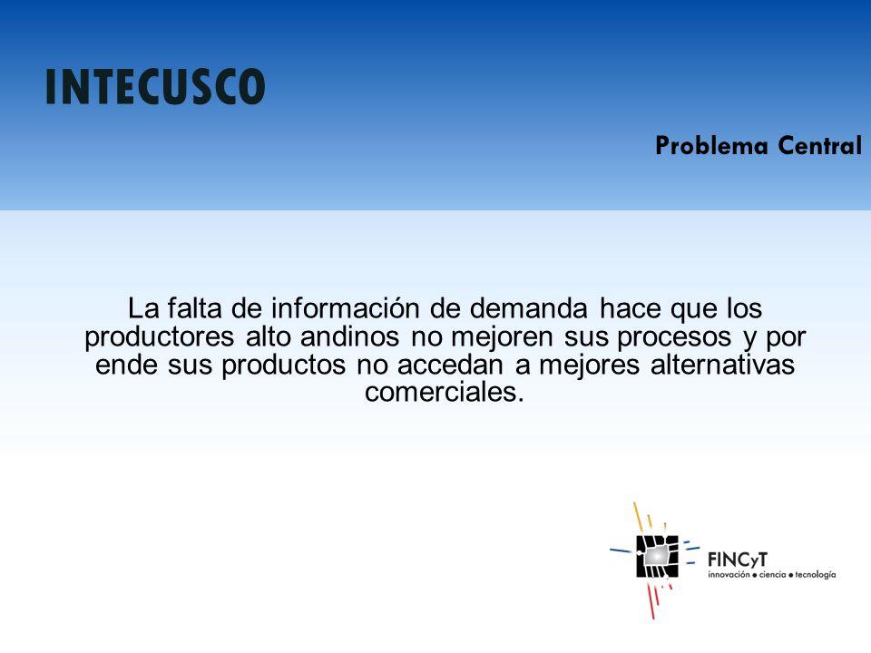 La falta de información de demanda hace que los productores alto andinos no mejoren sus procesos y por ende sus productos no accedan a mejores alternativas comerciales.