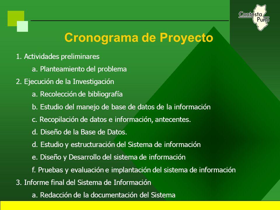 41 Denominación del Proyecto Sistema de administración de consultas. Sistema de información para la administración de información comercial de mercado