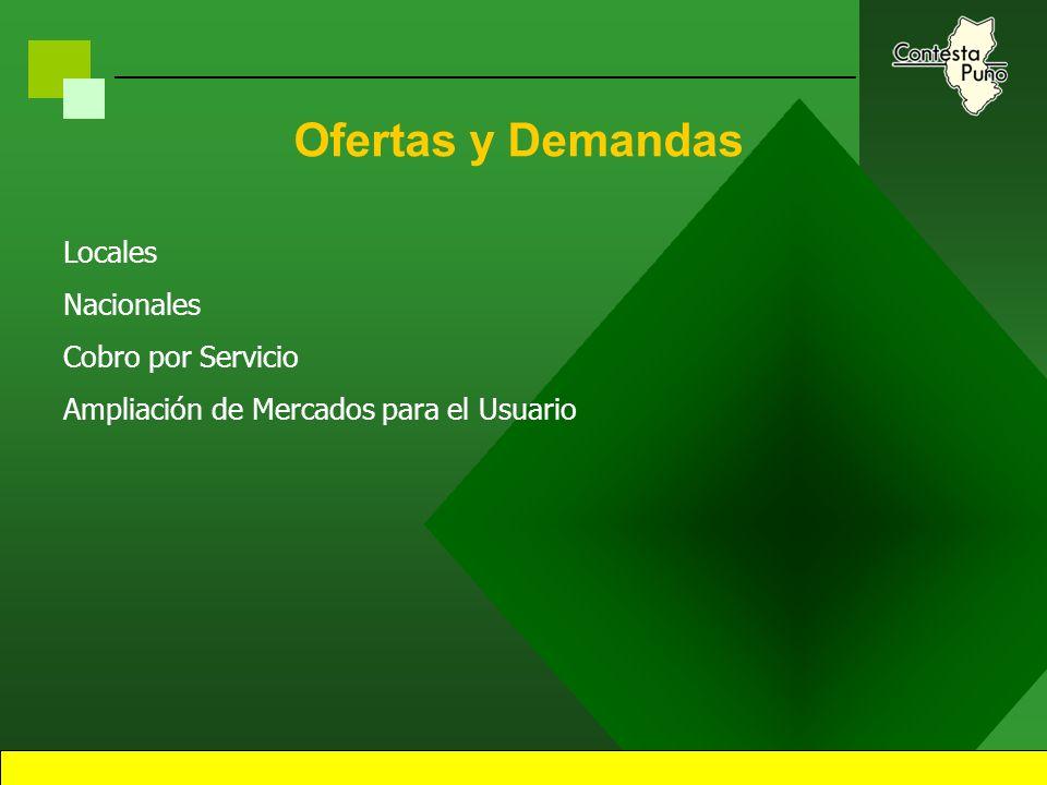 45 Contesta Puno Información del Servicio Consultas en línea (on-line) Tarjetas Pre-Pago en Web Panel del Grupo Consultor