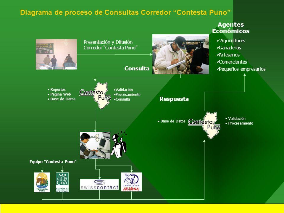 5 Corredor CONTESTA PUNO es un servicio de información comercial a demanda, es decir, responderá a las consultas personalizadas y específicas planteadas por los usuarios.