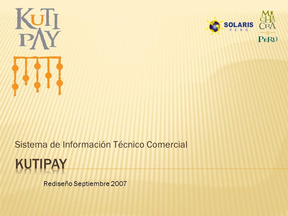 Sistema de Información Técnico Comercial Rediseño Septiembre 2007