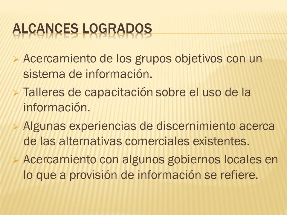 Acercamiento de los grupos objetivos con un sistema de información.