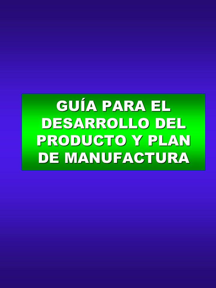 GUÍA PARA EL DESARROLLO DEL PRODUCTO Y PLAN DE MANUFACTURA