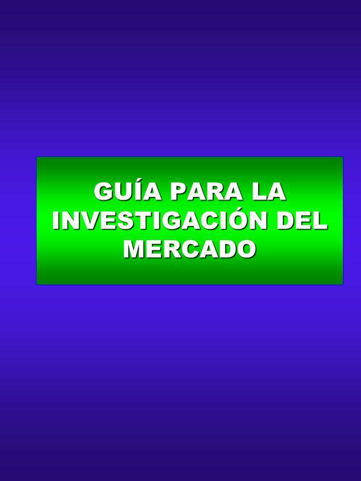 GUÍA PARA LA INVESTIGACIÓN DEL MERCADO