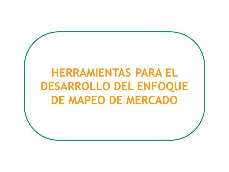 HERRAMIENTAS PARA EL DESARROLLO DEL ENFOQUE DE MAPEO DE MERCADO