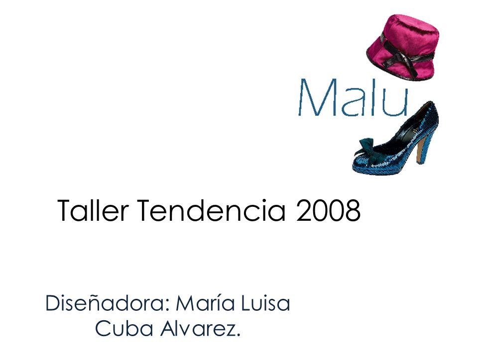 Taller Tendencia 2008 Diseñadora: María Luisa Cuba Alvarez.