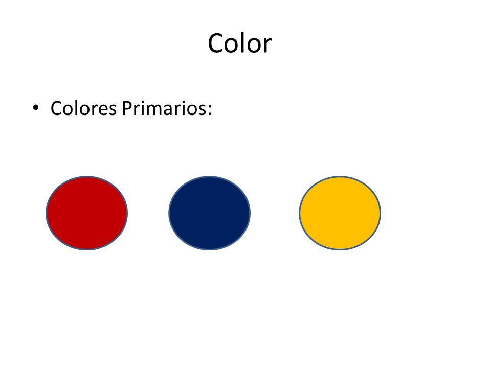 Color Colores Primarios: