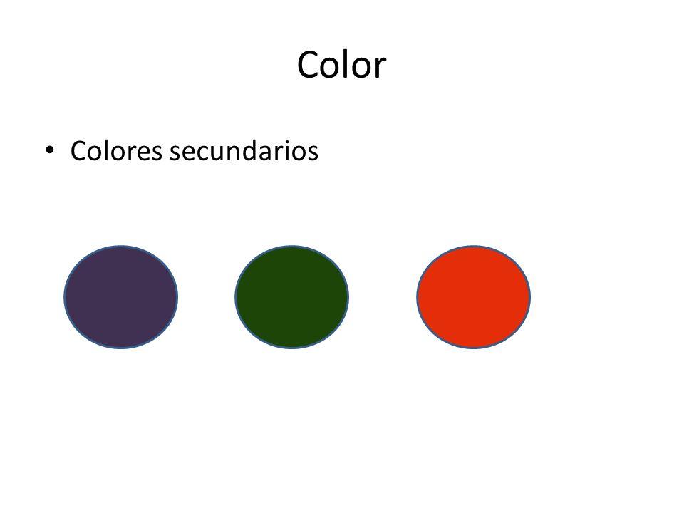 Color Colores secundarios