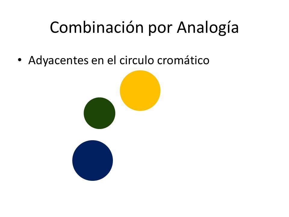 Combinación por Analogía Adyacentes en el circulo cromático