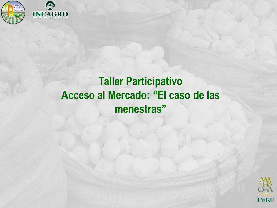 Taller Participativo Acceso al Mercado: El caso de las menestras