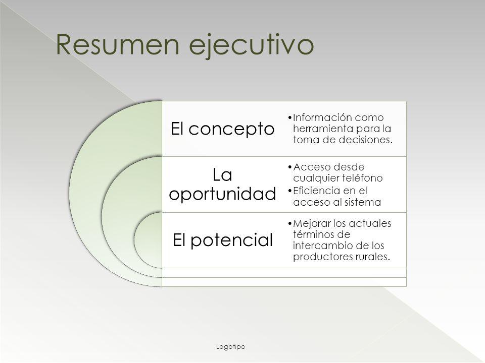 El concepto La oportunidad El potencial Información como herramienta para la toma de decisiones.