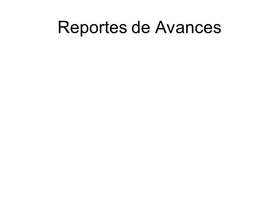 Reportes de Avances