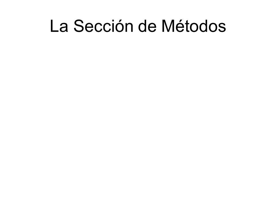 La Sección de Métodos