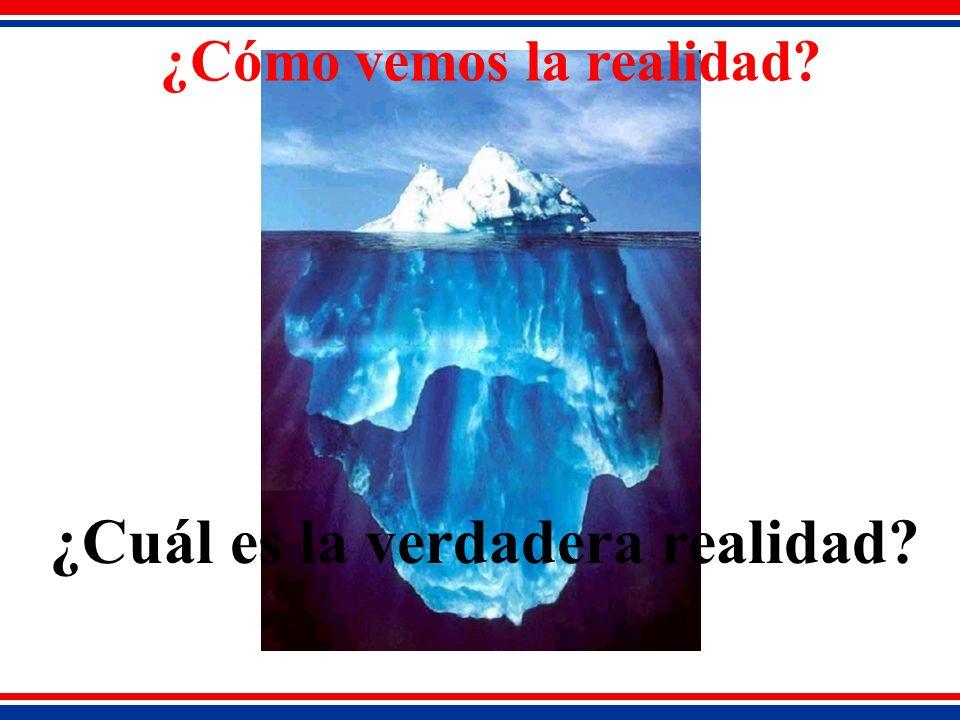 ¿Cómo vemos la realidad ¿Cuál es la verdadera realidad
