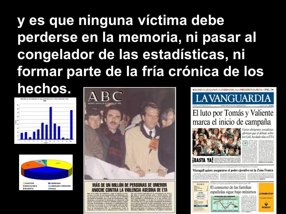 también sirvieron para recordar a los cientos de víctimas asesinadas, y es que un país que se precie, es un país que recuerda a sus muertos,
