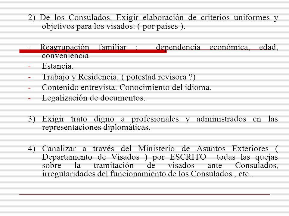 2) De los Consulados.
