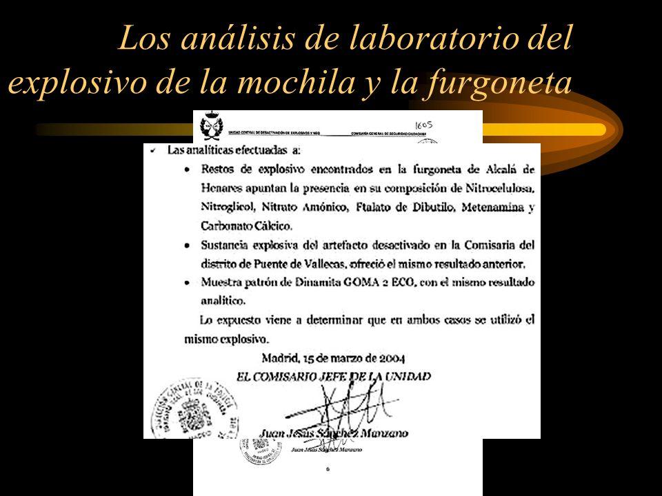 Sin embargo, los TEDAX, en su informe: 1) Mintieron, afirmando que en la muestra de la mochila también se encontró Metenamina.