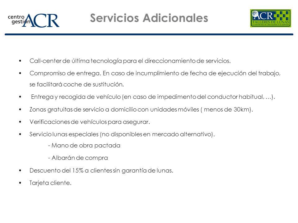 Call-center de última tecnología para el direccionamiento de servicios. Compromiso de entrega. En caso de incumplimiento de fecha de ejecución del tra